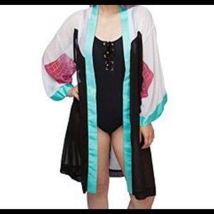Spider-gwen chiffon robe women's s/m